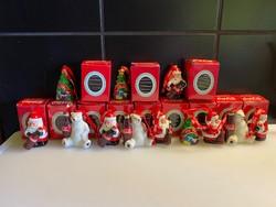 Coca Cola karácsonyfadisz szett 12 db dobozos