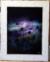 Czinóber - Holdfénykeringő ( 18 x 24, olaj, gyönyörű keretben )