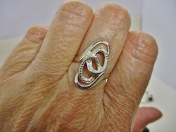 Szépséges gyémánt metszett ezüst gyűrű