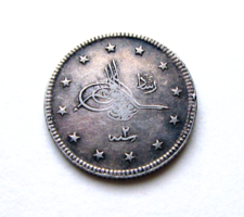 Törökország – Oszmán Birodalom - ezüst 2 Kuruş - AH 1327/2 (1910) - V. Mehmed szultán (1909 – 1918)