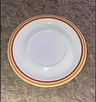 Retro Alföldi barna sárga csíkos szegélyes kis süteményes tányér 17 cm