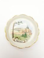 Aquincum retro porcelán szuvenír - Mecsek nyaralási emlék tányérka