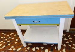 Régi népi kinyitható étkezőasztal paraszt asztal Félig felújítva Óbuda