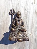 Nagyobb keleti figurális öntött bronz szobor