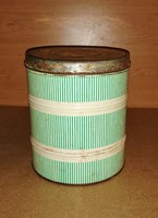 Retro  lisztes doboz fémdoboz fűszertartó 18,5 cm magas (s-1)