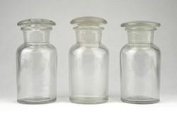 1B267 Régi dugós gyógyszertári 50 ml patika üveg készlet 3 darab