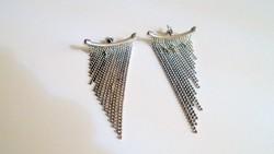 Különleges megjelenésű  nagyméretű Vintage ezüst fülbevaló