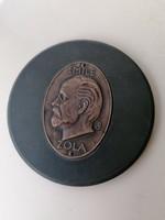 Emile Zola Bronz plakett