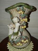 Antik nagy méretű Puttós váza.