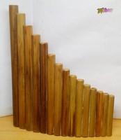 Kézműves 15 sípos bambusznád pánsíp, egyedi retro darab. Hangszer gyűjteménybe való.