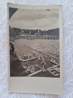 Régi képeslap 1953 Hévíz gyógyfürdő