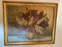Orgona vázában . Olaj , vászon