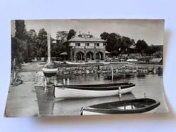 Régi képeslap 1957 Balatonalmádi