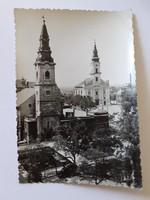 Régi képeslap 1960 Kecskemét látkép