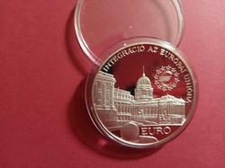 Integráció az Európai Unióba Parlament 2000 forint ezüst érme 1997 PP