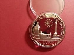 Integráció az Európai Unióba Hősök tere 2000 forint ezüst érme 1998 PP