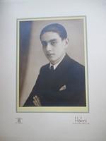 Halmi Béla udvari és kamarai fényképész portré-fotója, 1930.