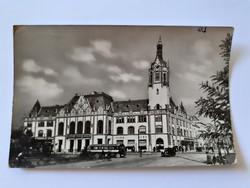 Régi képeslap 1957 Kiskunfélegyháza Tanácsháza