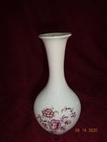 Aquincum magyar porcelán váza, különleges forma, magassága 20 cm.
