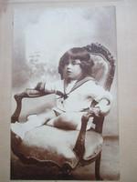 Antik művészi fotó, gyermekfotó 1920-ból, Goszleth István és fia műterméből - 1.