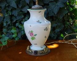 Antik nagyméretű Herendi porcelán asztali lámpa lámpatest búra nélkül