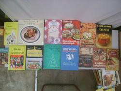 Retro tizennégy darabos szakácskönyv gyűjtemény