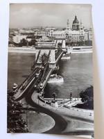 Régi képeslap 1960 Budapest Lánchíd