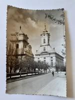 Régi képeslap 1962 Békéscsaba Evangélikus templom