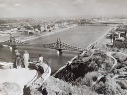 Régi képeslap Budapest látkép
