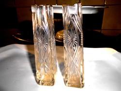 2 db Antik csiszolt üveg ibolya váza 1800 Ft /db