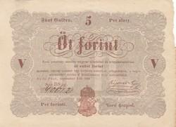 Kossuth Lajos 5 forint bankjegy barna nyomat 1848 Szabadságharc