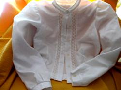 Fehér csipkés varrónői blúz