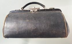Régi bőr orvosi táska vintage orvostáska