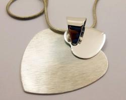 Ezüstlánc kettős szív különleges függővel 925-ös