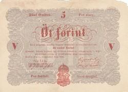 Kossuth Lajos 5 forint bankjegy piros nyomat 1848 Szabadságharc