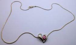 Ezüstlánc különleges szív függővel 925-ös
