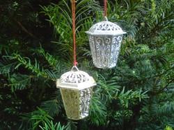 Retró műanyag karácsonyfa dísz