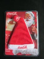 Coca-cola Mikulás sapka kulcstartó