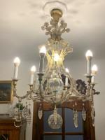 LEÁRAZVA! Mária Terézia korabeli ólom kristály csillár eladó