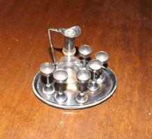 1927-ezüst Kiddush készlet miniatűr júdaika