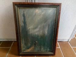 Kothencz Imre olajfestménye eredeti szignóval és pecséttel