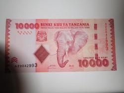 Tanzánia 10000 shillings 2015 UNC  A legnagyobb címlet!