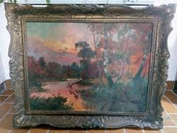Orosz Gellért (1919-2002) híres magyar festőművész olajfestménye
