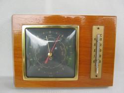 Retro német TORR barométer és hőmérő