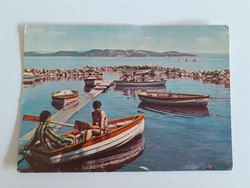 Retro képeslap 1964 Balaton csónak