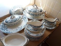 Antik angol Keeling & Co porcelán (hiányos) készlet