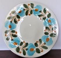 24 cm átmérőjű Városlődi majolika tányér, tál