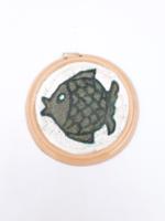 Retro kerámia falitányérka - hal mintával - Bod Éva stílus - iparművész falidísz