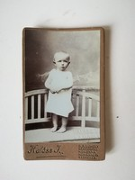 Régi vintage fotó gyermek Halász J.