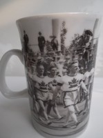 Porcelán - 1920-as olimpia képeivel díszített - 2.5 dl